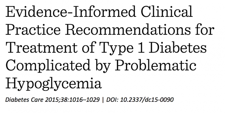 Clinical recommendations for T1D complicated by problematic hypos