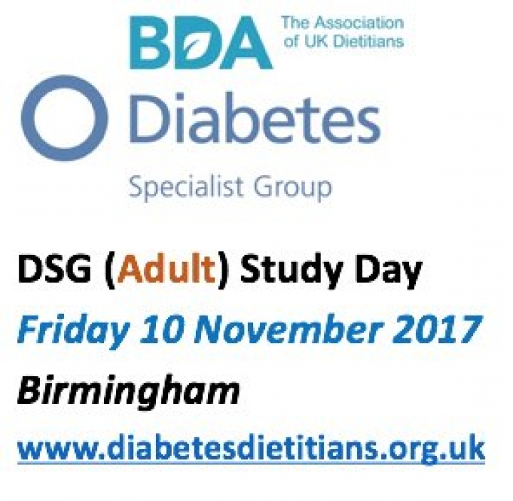 BDA Diabetes Specialist Group Study Day: 10th November 2017