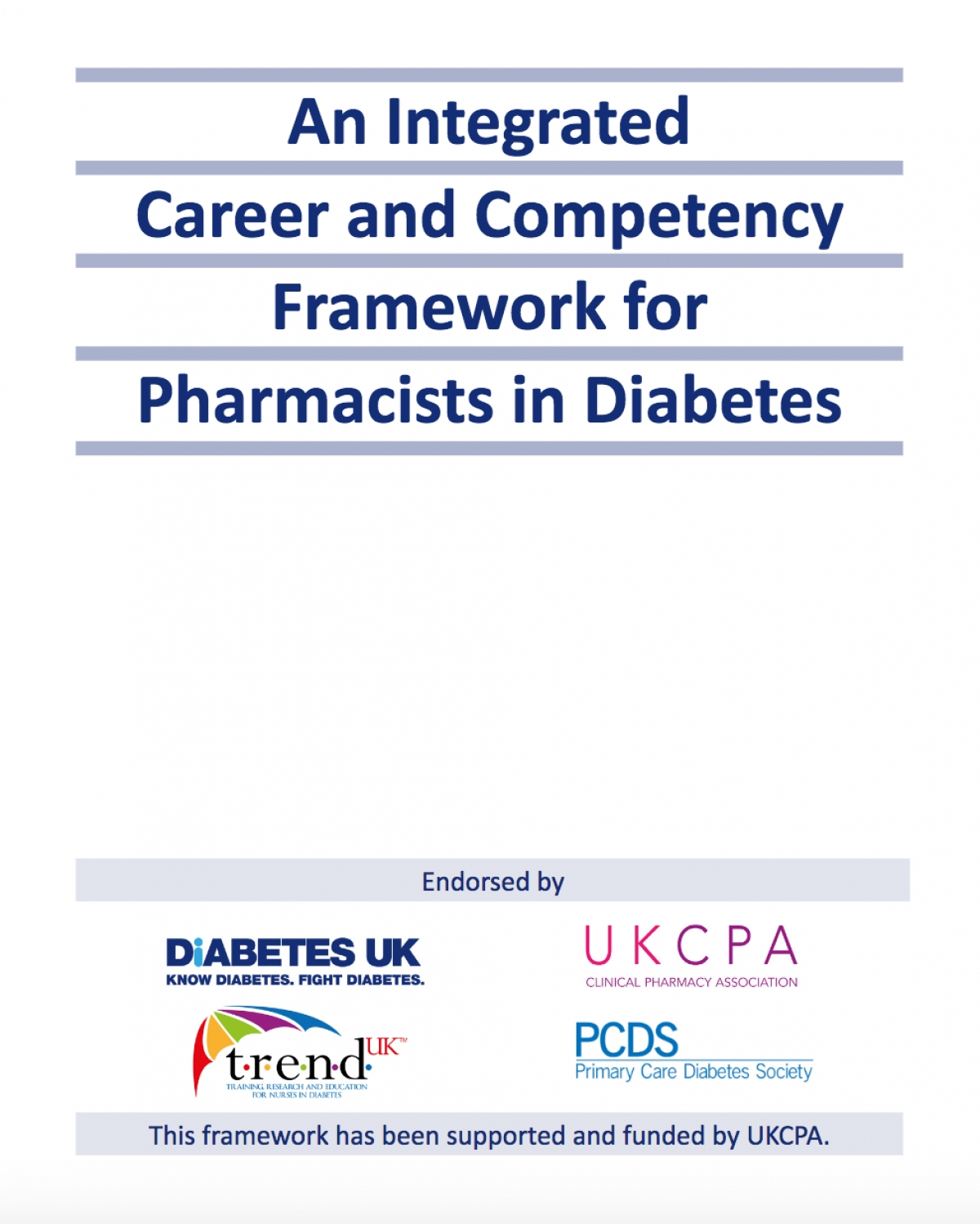 NEW career and competency framework for pharmacists in diabetes launched