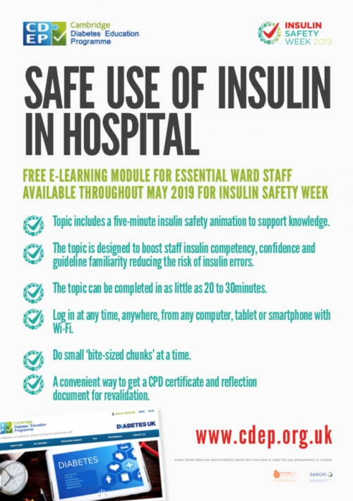 New 'Safe use of insulin in hospital' video