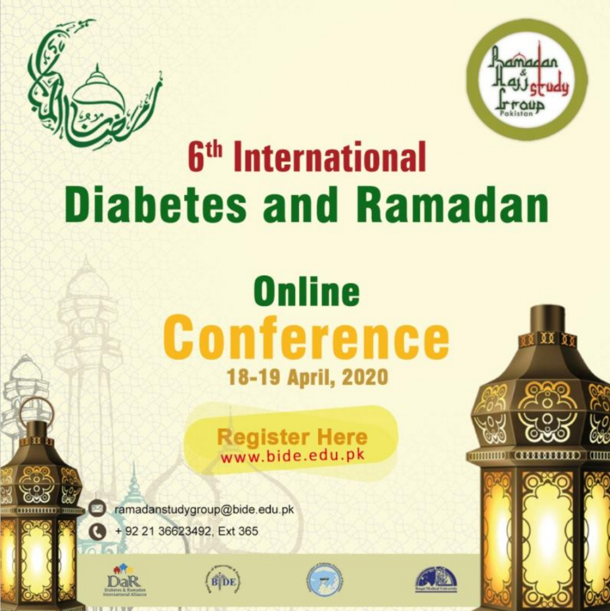 International Diabetes and Ramadan online conference