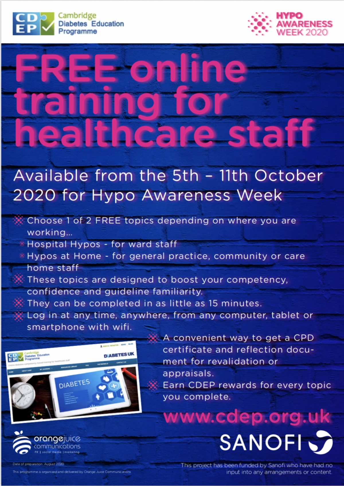Hypo Awareness Week 2020 5th 11th October