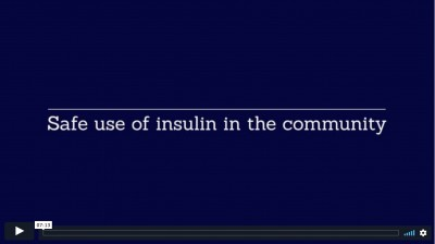 Safe use of insulin in the community