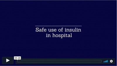 Safe use of inuslin in hospital